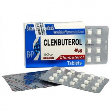 Clenbuterol Кленбутерол 40 мкг, 100 таблеток, Balkan Pharmaceuticals в Павлодаре