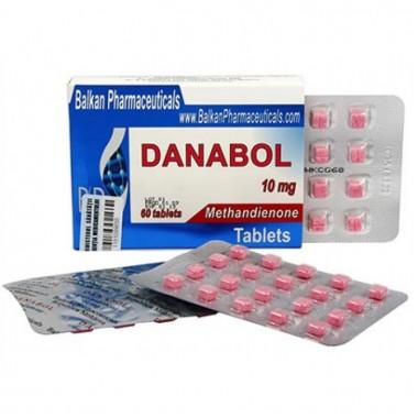 Danabol Данабол Метандиенон Метан 10 мг, 100 таблеток, Balkan Pharmaceuticals в Павлодаре