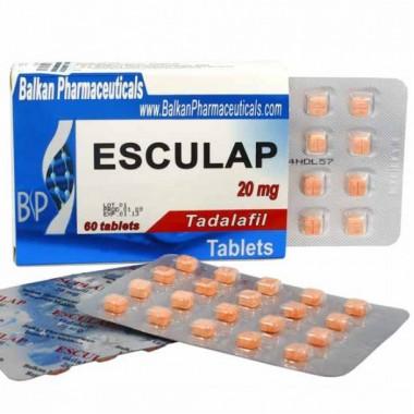 Esculap Тадалафил Эскулап 20 мг, 20 таблеток, Balkan Pharmaceuticals в Павлодаре